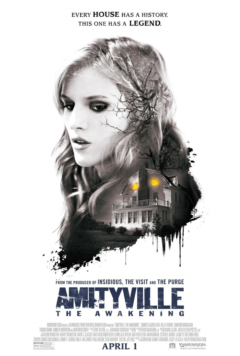 Amityville The Awakening Movie Poster Bella Thorne
