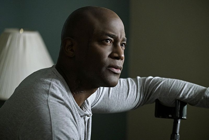 """Scope"" -- The NCIS team re-examines an ambush on a group of Special Ops snipers in Iraq after an American couple is attacked in the same area six months later. When Gibbs discovers he needs the account of the lone survivor, Marine Gunnery Sergeant Aaron Davis (Taye Diggs, pictured), he tries to connect with the wounded warrior who is being treated for PTSS at Walter Reed Medical Center, on  the 300th episode of NCIS, Tuesday, March 15 (8:00-9:00 PM, ET/PT), on the CBS Television Network. Photo: Jace Downs/CBS ©2016 CBS Broadcasting, Inc. All Rights Reserved"