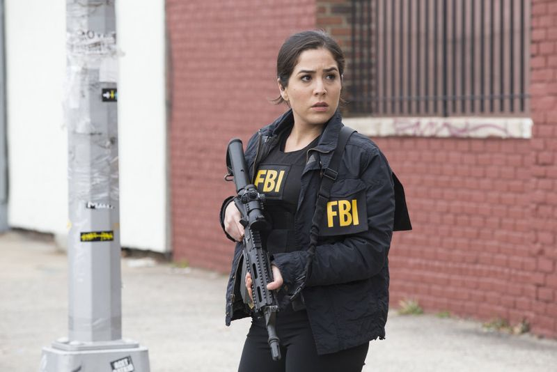 "BLINDSPOT -- ""Scientists Hollow Fortune"" Episode 112 -- Pictured: Audrey Esparza as Zapata -- (Photo by: {Paul Sarkis/NBC)"