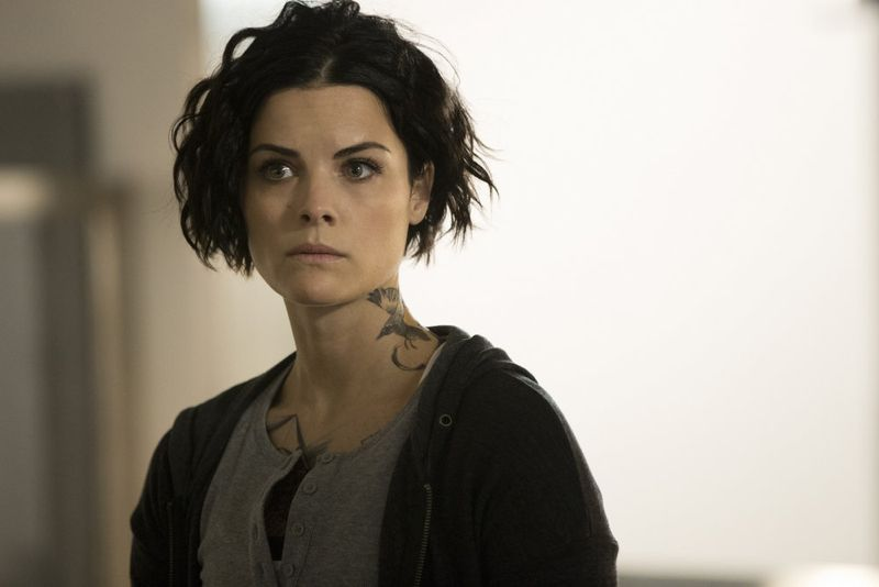 "BLINDSPOT -- ""Scientists Hollow Fortune"" Episode 112 -- Pictured: Jaimie Alexander as Jane Doe -- (Photo by: {Paul Sarkis/NBC)"