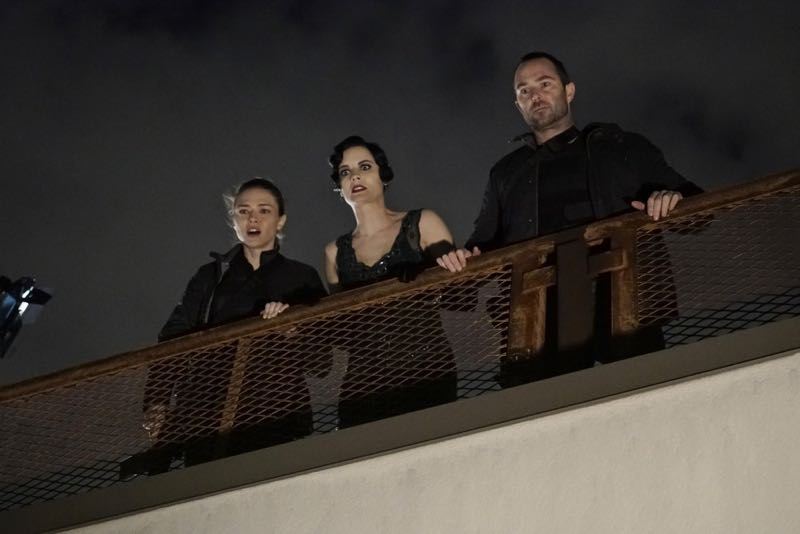 "BLINDSPOT -- ""One Begets Technique"" Episode 118 -- Pictured: (l-r) Trieste Kelly Dunn as Allison Knight, Jaimie Alexander as Jane Doe, Sullivan Stapleton as Kurt Weller -- (Photo by: Peter Kramer/NBC)"