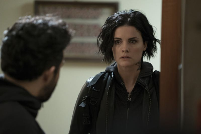 "BLINDSPOT -- ""One Begets Technique"" Episode 118 -- Pictured: Jaimie Alexander as Jane Doe -- (Photo by: Peter Kramer/NBC)"