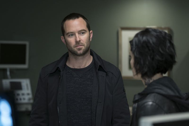 "BLINDSPOT -- ""One Begets Technique"" Episode 118 -- Pictured: (l-r) Sullivan Stapleton as Kurt Weller, Jaimie Alexander as Jane Doe -- (Photo by: Peter Kramer/NBC)"