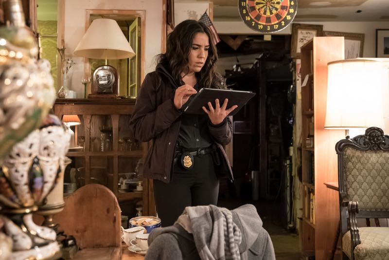 "BLINDSPOT -- ""Mans Telepathic Loyal Lookouts"" Episode 117 -- Pictured: Audrey Esparza as Tasha Zapata -- (Photo by: Jeff Neumann/NBC)"