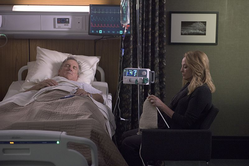 """""""Arrangement in Grey and Black"""" - A prominent Boston family reels in the wake of the chilling discovery that someone in their midst is linked to an infamous string of murders, on the series premiere of  """"American Gothic,"""" Tuesday, June 22 (10:00-11:00PM, ET/PT), on the CBS Television Network.  Juliet Rylance, Antony Starr, Virginia Madsen, Justin Chatwin, Megan Ketch, Elliot Knight, Stephanie Leonidas and Gabriel Bateman star.  Pictured:  Jamey Sheridan (Mitchell Hawthorne),  Virginia Madsen (Madeline Hawthorne)  Photo: Christos Kalohoridis/CBS ©2016 CBS Broadcasting, Inc. All Rights Reserved."""