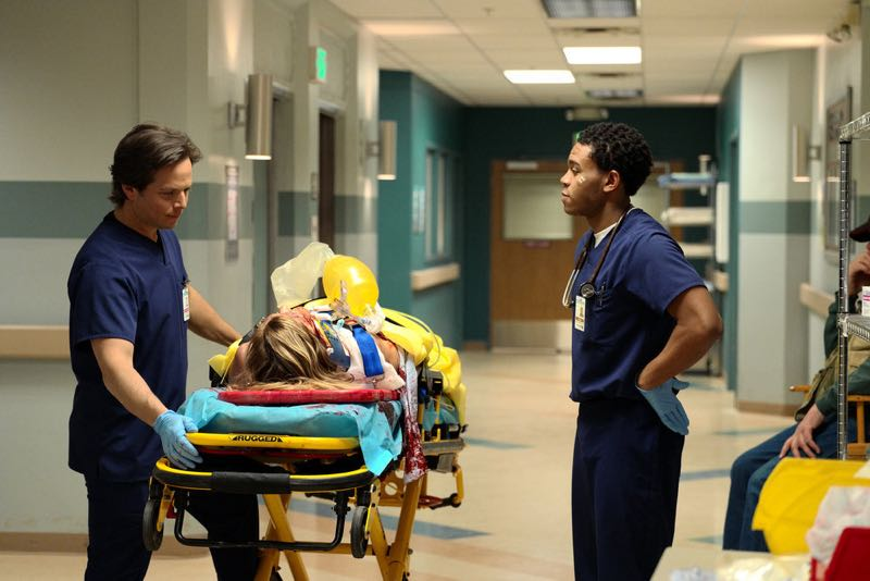 "THE NIGHT SHIFT -- ""The Times They Are-A-Changin"" Episode 301 -- Pictured: (l-r) Scott Wolf as Dr. Scott Clemmens, Robert Bailey, Jr. as Dr. Paul Cummings -- (Photo by: Ursula Coyote/NBC)"