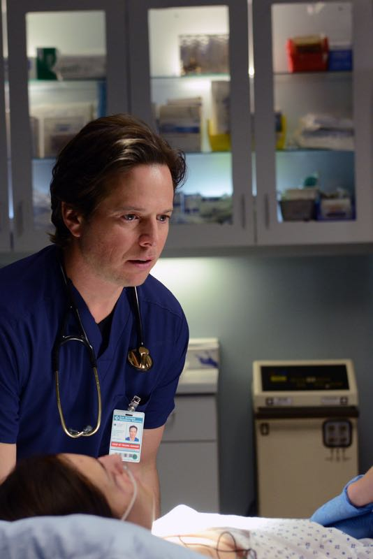 "THE NIGHT SHIFT -- ""The Times They Are-A-Changin"" Episode 301 -- Pictured: (l-r) Scott Wolf as Dr. Scott Clemmens, Jill Flint as Dr. Jordan Alexander -- (Photo by: Ursula Coyote/NBC)"