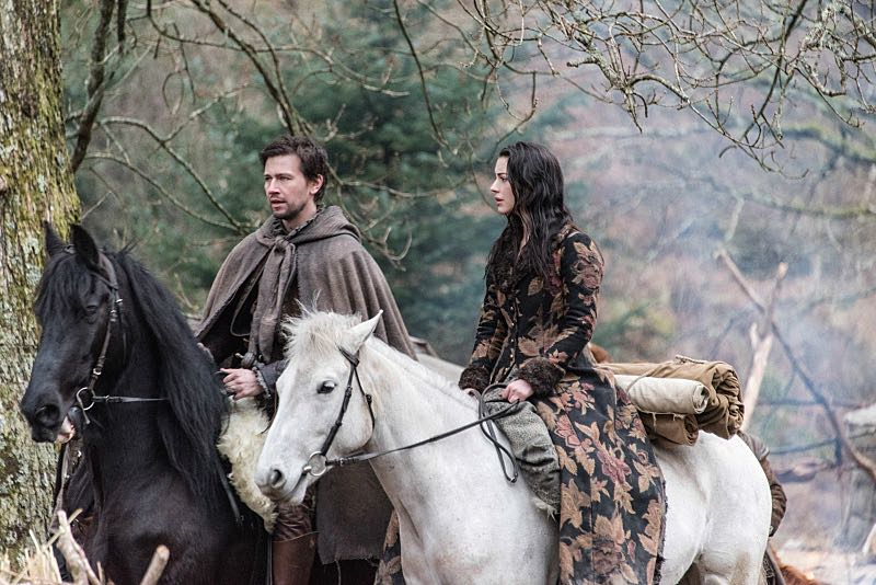"""Reign -- """"Clans"""" -- Image Number: RE316d_0196.jpg -- Pictured (L-R): Torrance Coombs as Bash and Adelaide Kane as Mary, Queen of Scots -- Photo: Bernard Walsh/The CW -- © 2016 The CW Network, LLC. All rights reserved."""