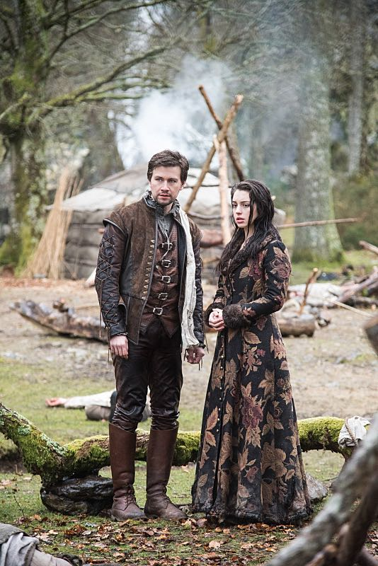 """Reign -- """"Clans"""" -- Image Number: RE316d_0029.jpg -- Pictured (L-R): Torrance Coombs as Bash and Adelaide Kane as Mary, Queen of Scots -- Photo: Bernard Walsh/The CW -- © 2016 The CW Network, LLC. All rights reserved."""