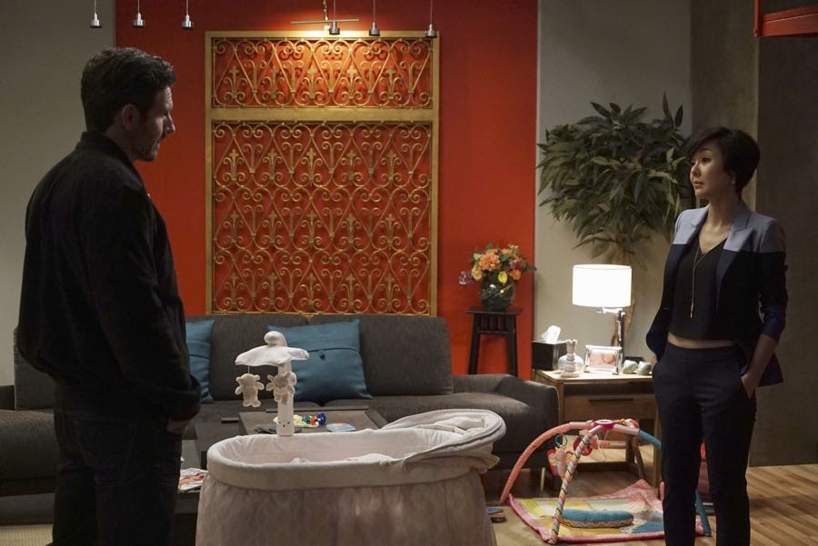 """MISTRESSES - """"What Happens in Vegas"""" – Alec makes a surprise visit and turns Karen's life upside down when he reveals something new in his life. April and Marc butt heads when it comes to parenting Lucy, putting a strain on their relationship. Kate discovers her new love interest has close ties to Joss and Harry. Joss and Harry get invited to Las Vegas by Harry's new business partner, Jonathan, and Joss snaps unexpectedly just before they are to be married. Based on the hit UK television series of the same name, """"Mistresses"""" airs MONDAY, JULY 11 (10:00-11:00 p.m. EDT), on the ABC Television Network. (ABC/Eric McCandless) ED QUINN, YUNJIN KIM"""