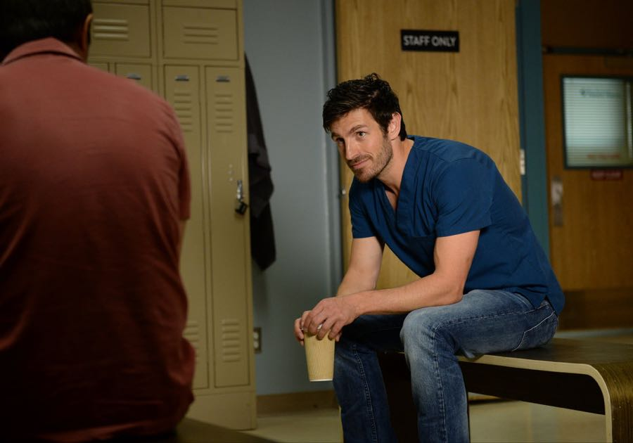 "THE NIGHT SHIFT -- ""By Dawn's Early Light"" Episode 307 -- Pictured: Eoin Macken as Dr. TC Callahan -- (Photo by: Ursula Coyote/NBC)"