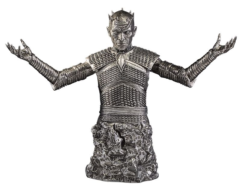 "Game of Thrones The Night King Bust Silver Edition $150.00 8.5"" silver bust. Limited Edition of 200 1 per person per day"