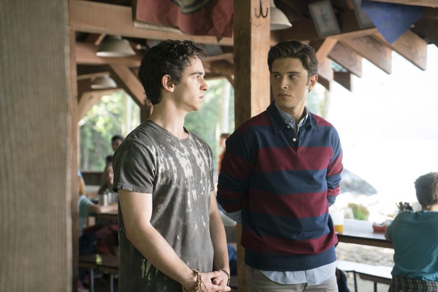 """DEAD OF SUMMER - """"Barney Rubble Eyes"""" - A new camper finds himself in the middle of the mystery of Camp Stillwater in """"Barney Rubble Eyes,"""" an all new episode of """"Dead of Summer,"""" airing TUESDAY, JULY 5 (9:00 – 10:00 p.m. EDT) on Freeform. (Freeform/Katie Yu) ZACHARY GORDON, RONEN RUBINSTEIN"""