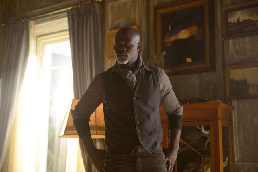 "WAYWARD PINES: Djimon Hounsou in the ""City Upon A Hill"" episode of WAYWARD PINES airing Wednesday, June 29 (9:00-10:00 PM ET/PT) on FOX. ©2016 Fox Broadcasting Co. Cr: Sergei Bachlakov/FOX"