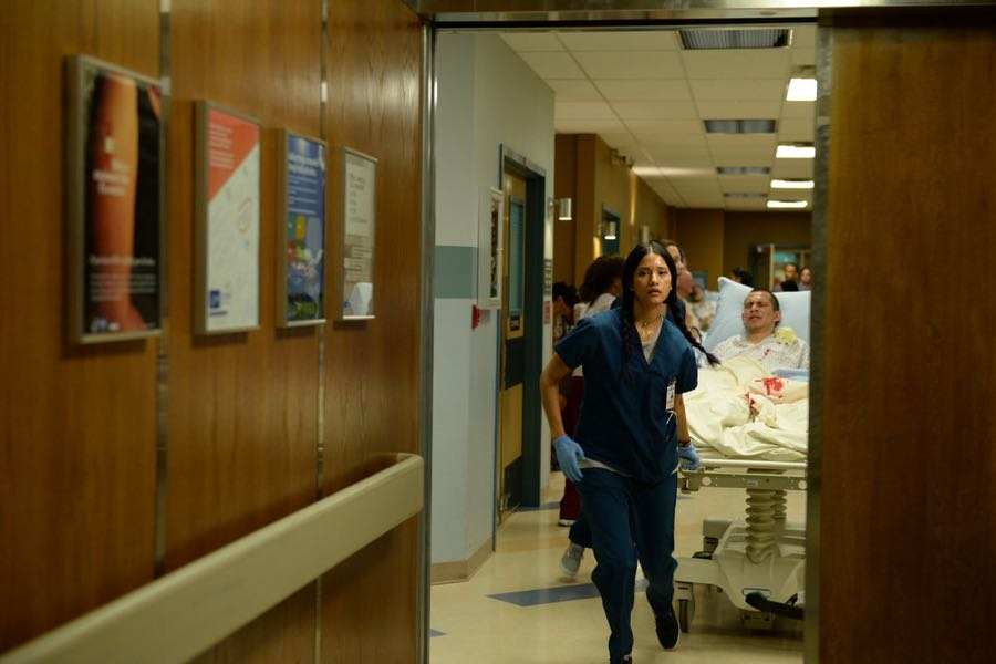 "THE NIGHT SHIFT-- ""Hot In The City"" Episode 306 -- Pictured: Tanaya Beatty as Dr. Shannon Rivera -- (Photo by: Ursula Coyote/NBC)"