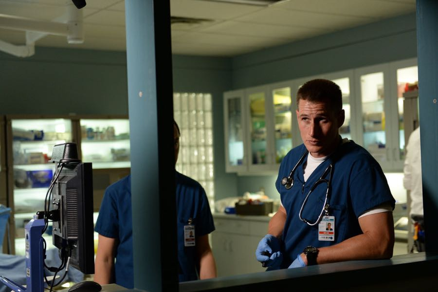 "THE NIGHT SHIFT-- ""Hot In The City"" Episode 306 -- Pictured: Brendan Fehr as Dr. Drew Alister -- (Photo by: Ursula Coyote/NBC)"