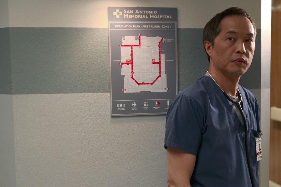 """THE NIGHT SHIFT-- """"Get Busy Living"""" Episode 305 -- Pictured: Ken Leung as Dr. Topher Zia -- (Photo by: Ursula Coyote/NBC)"""
