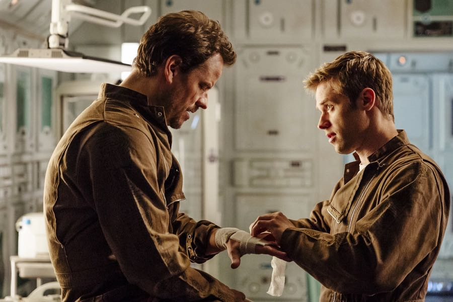 "DARK MATTER -- ""Welcome To Your New Home"" Episode 201 -- Pictured: (l-r) Anthony Lemke as Three, Shaun Sipos as Devon -- (Photo by: Jan Thijs/Prodigy Pictures/Syfy)"