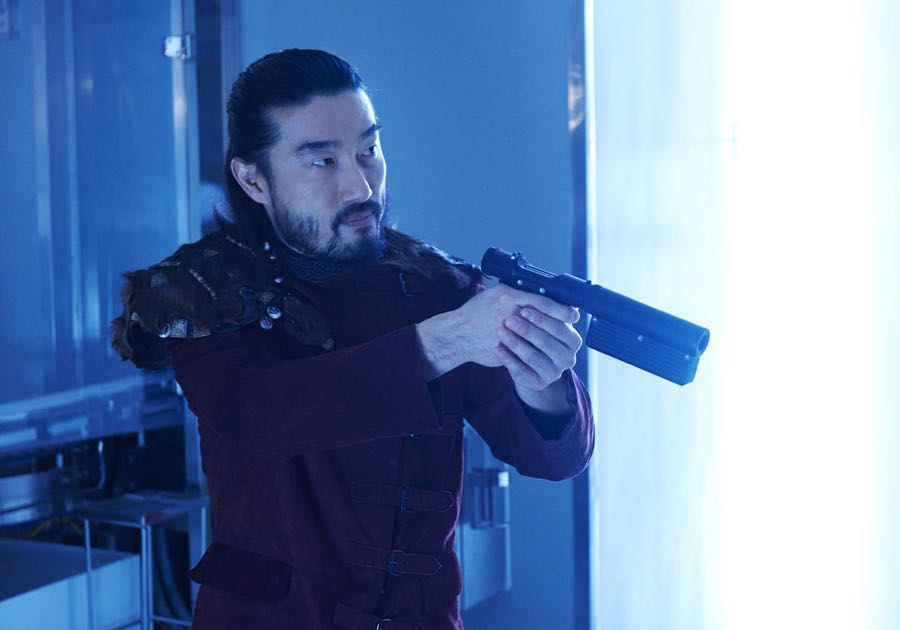 """KILLJOYS -- """"Dutch and the Real Girl"""" Episode 201 -- Pictured: Sean Baek as Fancy Lee -- (Photo by: Steve Wilkie/Syfy/Killjoys II Productions Limited)"""