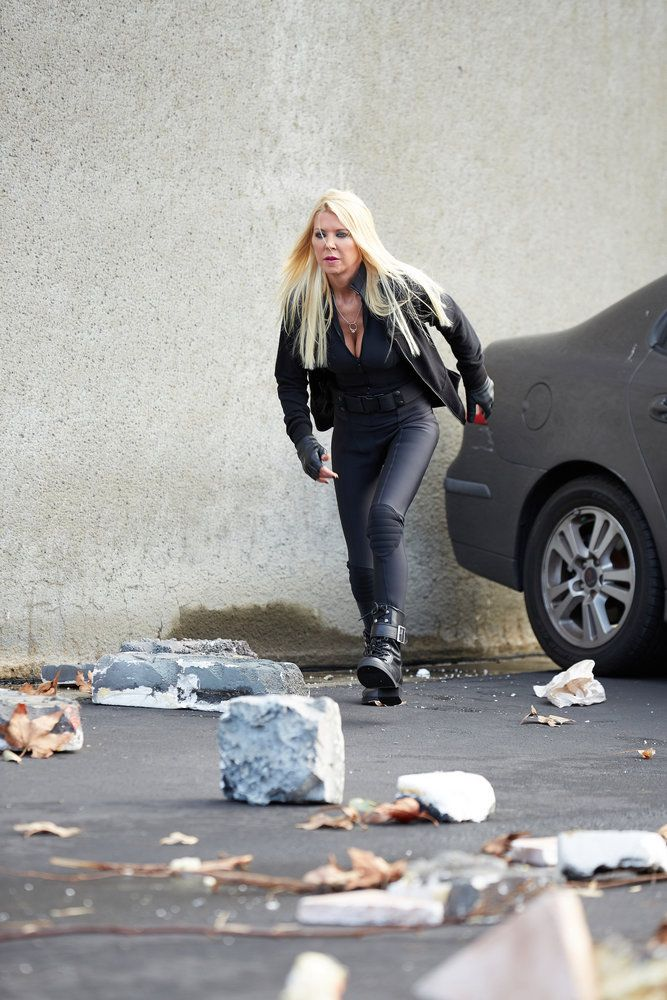 SHARKNADO: THE 4TH AWAKENS -- Pictured: Tara Reid as April Shepard -- (Photo by: Tyler Golden/Syfy)