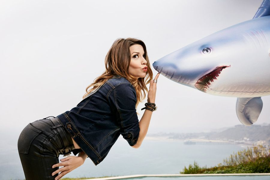 SHARKNADO: THE 4TH AWAKENS -- Season:2016 -- Pictured: Masiela Lusha as Gemini -- (Photo by: Justin Stephens/Syfy)