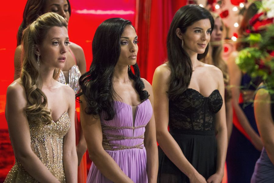 Lindsay Musil, Sunita Prasad and Monica Barbaro star in Season 2 of Lifetime's hit drama UnREAL airing, Monday, June 27th at 10pm ET/PT on Lifetime. Photo by James Dittiger Copyright 2016