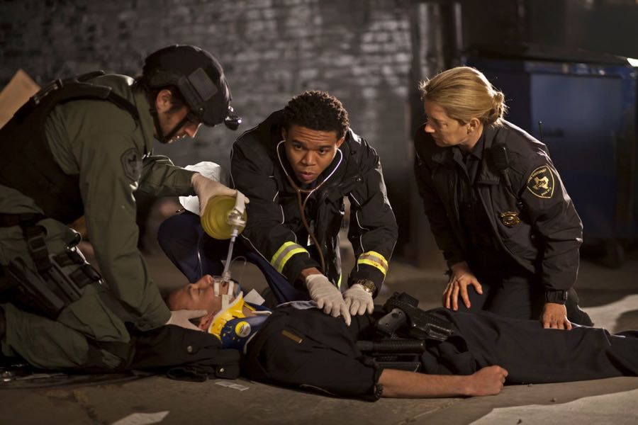 """THE NIGHT SHIFT-- """"Three-Two-One"""" Episode 304 -- Pictured: (l-r) Eoin Macken as Dr. TC Callahan, Robert Bailey Jr. as Dr. Paul Cummings -- (Photo by: Cathy Kanavy/NBC)"""