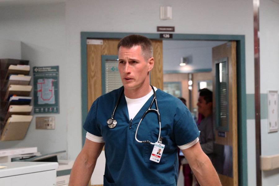 """THE NIGHT SHIFT-- """"Three-Two-One"""" Episode 304 -- Pictured: Brendan Fehr as Dr. Drew Alister -- (Photo by: Ursula Coyote/NBC)"""