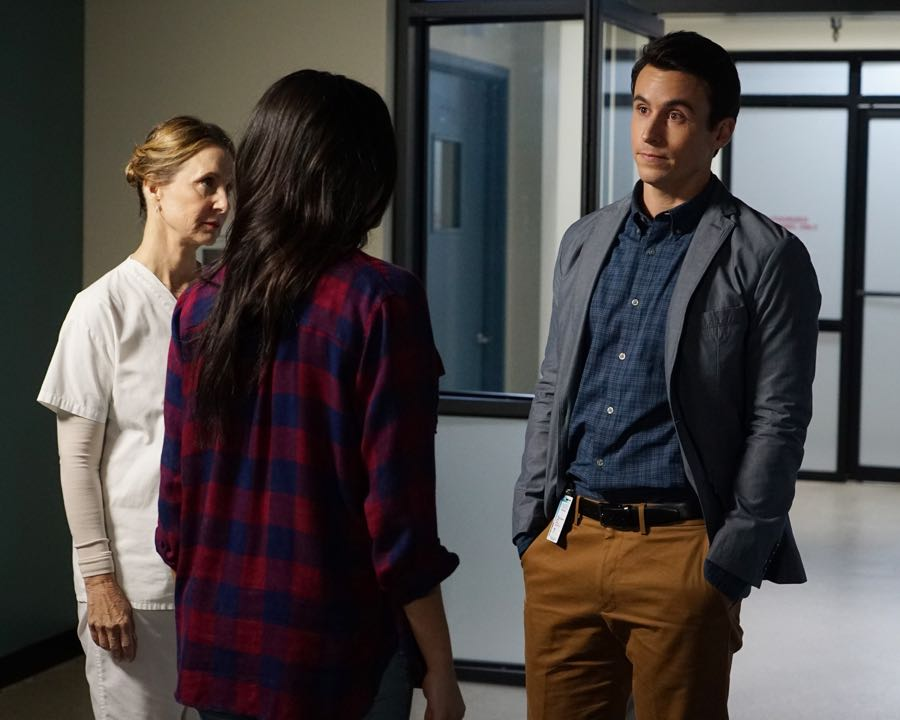 """PRETTY LITTLE LIARS - """"Bedlam"""" - The PLLs worry Ali is being tortured by """"Uber A"""" and turn to a potential enemy for help in """"Bedlam,"""" an all-new episode of Freeform's hit original series """"Pretty Little Liars,"""" airing TUESDAY, JUNE 28 (8:00 - 9:00 p.m. EDT). (Freeform/Eric McCandless) GWEN HOLLOWAY, HUW J. COLLINS"""