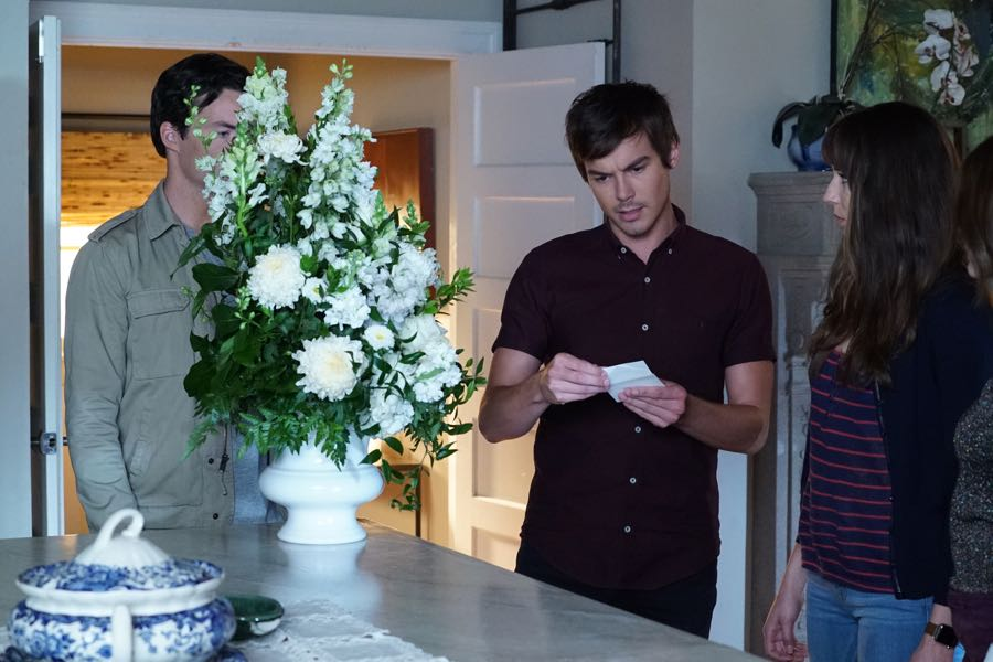 """PRETTY LITTLE LIARS - """"Bedlam"""" - The PLLs worry Ali is being tortured by """"Uber A"""" and turn to a potential enemy for help in """"Bedlam,"""" an all-new episode of Freeform's hit original series """"Pretty Little Liars,"""" airing TUESDAY, JUNE 28 (8:00 - 9:00 p.m. EDT). (Freeform/Ron Tom) TYLER BLACKBURN, TROIAN BELLISARIO"""