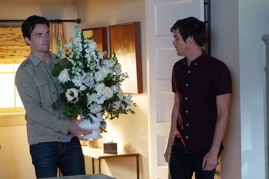"""PRETTY LITTLE LIARS - """"Bedlam"""" - The PLLs worry Ali is being tortured by """"Uber A"""" and turn to a potential enemy for help in """"Bedlam,"""" an all-new episode of Freeform's hit original series """"Pretty Little Liars,"""" airing TUESDAY, JUNE 28 (8:00 - 9:00 p.m. EDT). (Freeform/Ron Tom) IAN HARDING, TYLER BLACKBURN"""