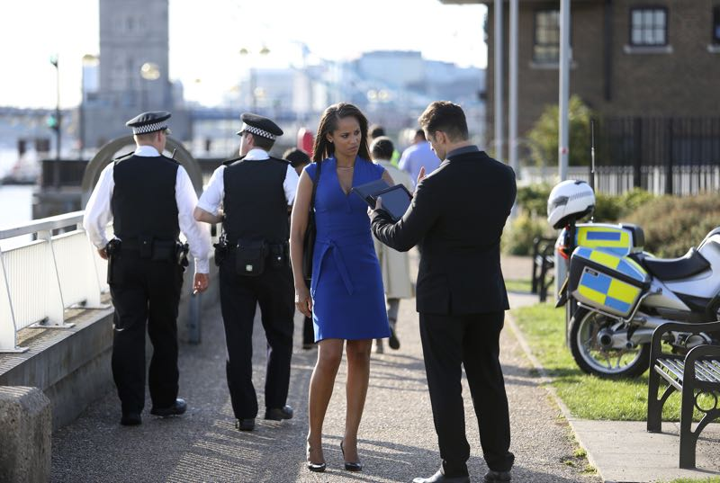 """GUILT - """"Pilot"""" - When a young woman is brutally murdered in her London flat, the search for her killer leads to scandal and intrigue stretching all the way from underground sex clubs to the highest levels of the Royal Family, in the series premiere of """"Guilt,"""" airing MONDAY, JUNE 13 (9:00–10:00 p.m. EDT), on Freeform. - (Freeform/Nick Ray) NAOMI RYAN, CRISTIAN SOLIMENO"""