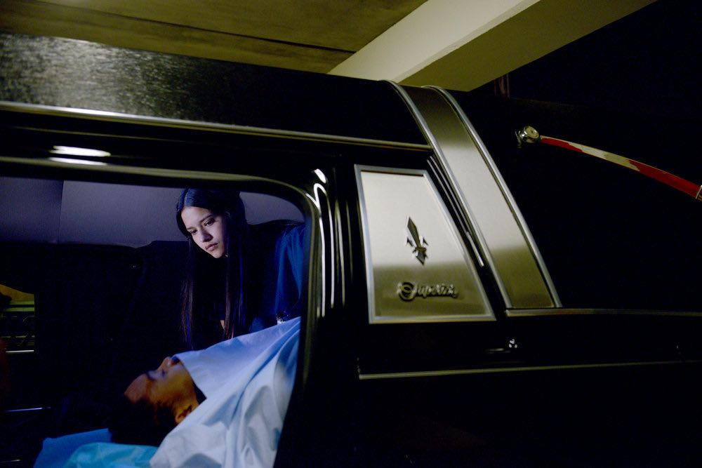 """THE NIGHT SHIFT -- """"The Thing With Feathers"""" Episode 302 -- Pictured: Tanaya Beatty as Shannon Rivera -- (Photo by: Ursula Coyote/NBC)"""