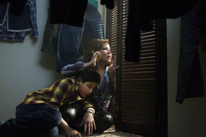 "QUEEN OF THE SOUTH -- ""Piloto"" Episode 101 -- Pictured: (l-r) Adolfo Alvarez as Tony Parra, Justina Machado as Brenda -- (Photo by: Eniac Martinez/USA Network)"