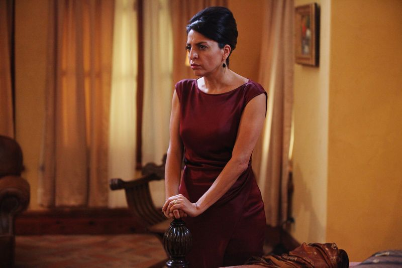"""QUEEN OF THE SOUTH -- """"Piloto"""" Episode 101 -- Pictured: Veronica Falcon as Camila -- (Photo by: Bill Matlock/USA Network)"""
