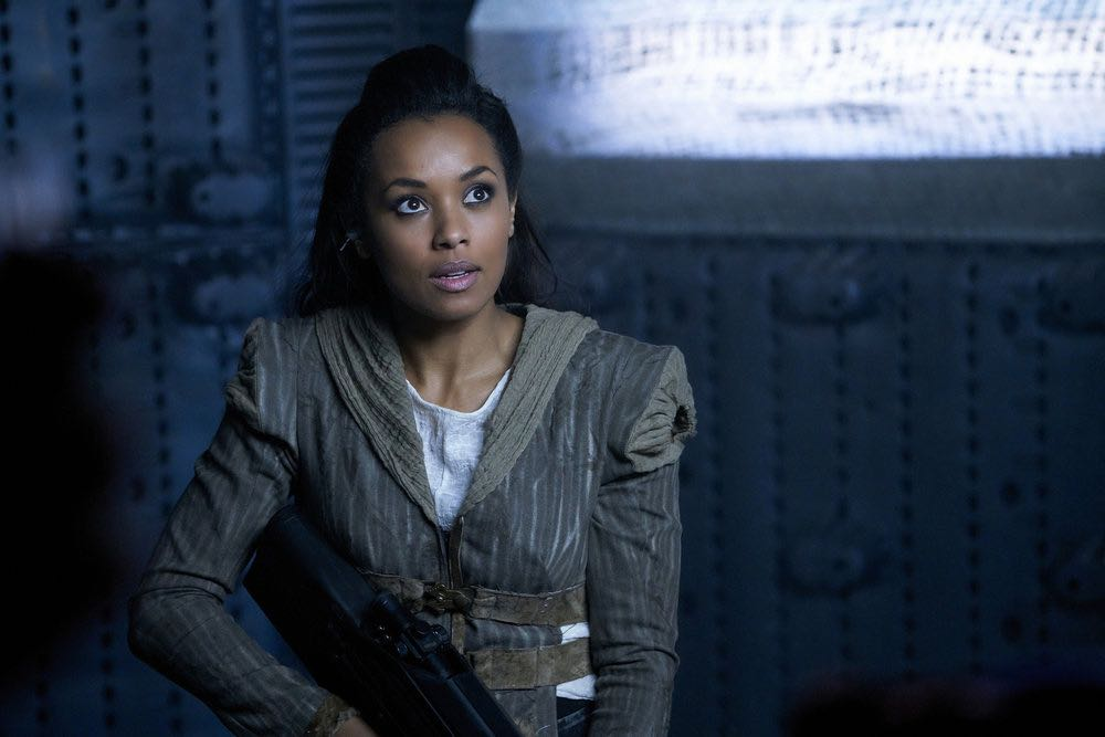 """DARK MATTER -- """"We Should Have Seen This Coming"""" Episode 206 -- Pictured: Melanie Liburd as Nyx -- (Photo by: Steve Wilkie/Prodigy Pictures/Syfy)"""