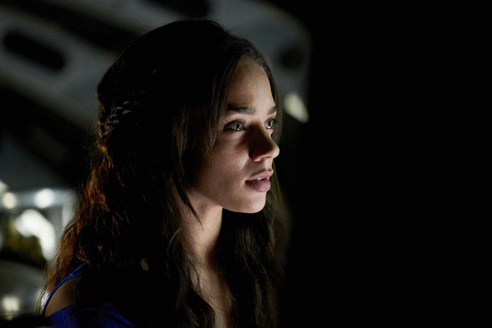 KILLJOYS -- Episode 205 -- Pictured: Hannah John-Kamen as Dutch -- (Photo by: Steve Wilkie/Syfy/Killjoys II Productions Limited)