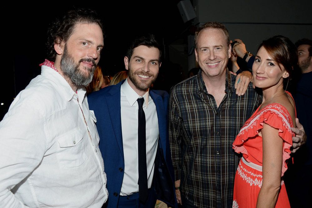 "COMIC-CON INTERNATIONAL: SAN DIEGO 2016 -- 7th Annual NBC @ Comic-Con Party -- Pictured: (l-r) Cast of ""Grimm"" Silas Weir Mitchell, David Giuntoli, Bree Turner, with Robert Greenblatt, Chairman, NBC Entertainment at the Andaz, San Diego, Calif., Saturday, July 23, 2016 -- (Photo by: Matt Winkelmeyer/NBC)"