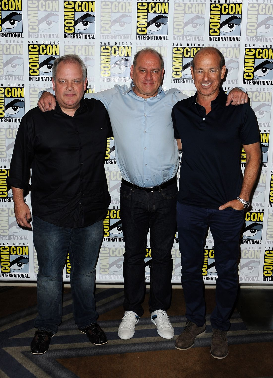 FOX FANFARE AT SAN DIEGO COMIC-CON © 2016: L-R: 24:LEGACY executive producers Manny Coto, Evan Katz and Howard Gordon during the 24:LEGACY press room on Sunday, July 24 at the FOX FANFARE AT SAN DIEGO COMIC-CON © 2016. CR: Scott Kirkland/FOX © 2016 FOX BROADCASTING