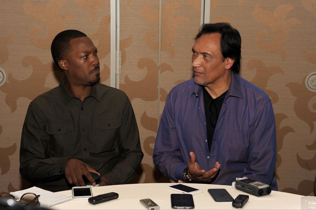 FOX FANFARE AT SAN DIEGO COMIC-CON © 2016: L-R: 24:LEGACY cast members Corey Hawkins and Jimmy Smits during the 24:LEGACY press room on Sunday, July 24 at the FOX FANFARE AT SAN DIEGO COMIC-CON © 2016. CR: Scott Kirkland/FOX © 2016 FOX BROADCASTING