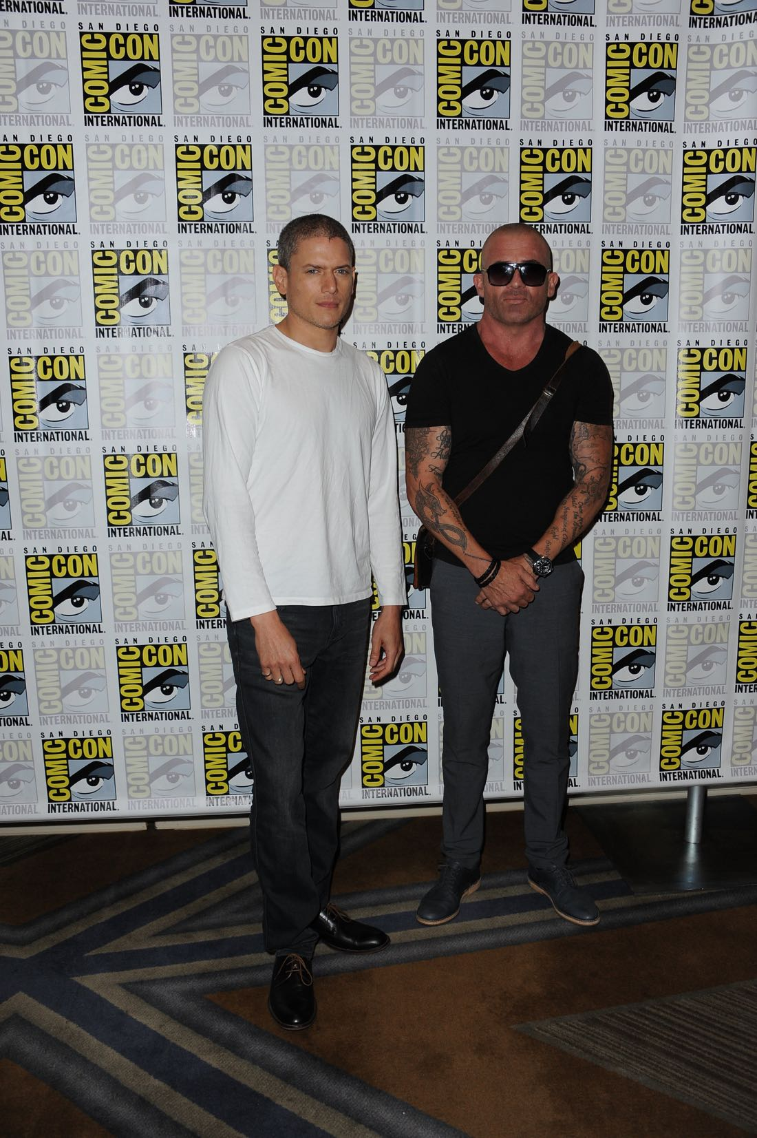 FOX FANFARE AT SAN DIEGO COMIC-CON © 2016: PRISON BREAK cast members Wentworth Miller and Dominic Purcell during the PRISON BREAK press room on Sunday, July 24 at the FOX FANFARE AT SAN DIEGO COMIC-CON © 2016. CR: Scott Kirkland/FOX © 2016 FOX BROADCASTING