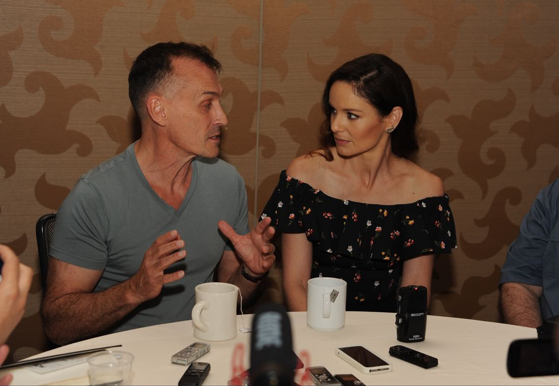 FOX FANFARE AT SAN DIEGO COMIC-CON © 2016: PRISON BREAK cast members Robert Knepper and Sarah Wayne Callies during the PRISON BREAK press room on Sunday, July 24 at the FOX FANFARE AT SAN DIEGO COMIC-CON © 2016. CR: Scott Kirkland/FOX © 2016 FOX BROADCASTING
