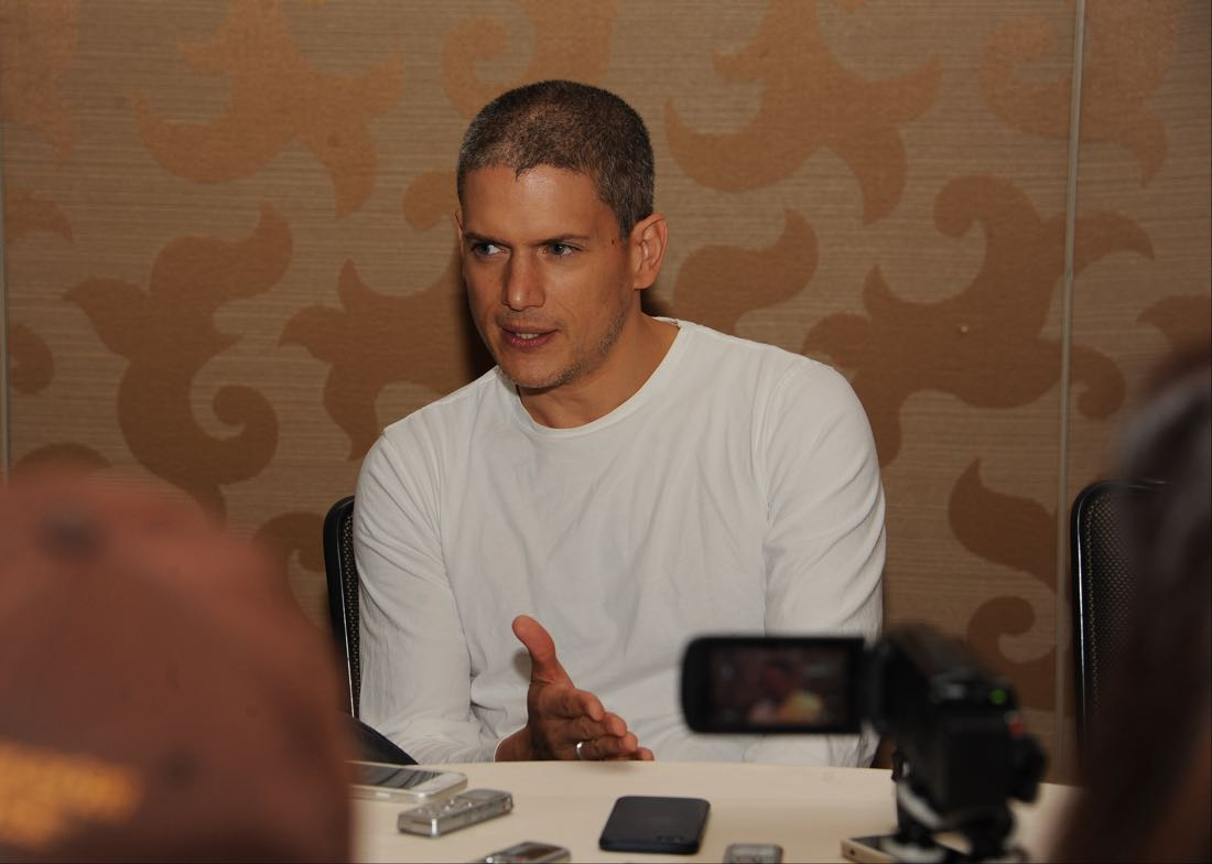FOX FANFARE AT SAN DIEGO COMIC-CON © 2016: PRISON BREAK cast member Wentworth Miller during the PRISON BREAK press room on Sunday, July 24 at the FOX FANFARE AT SAN DIEGO COMIC-CON © 2016. CR: Scott Kirkland/FOX © 2016 FOX BROADCASTING