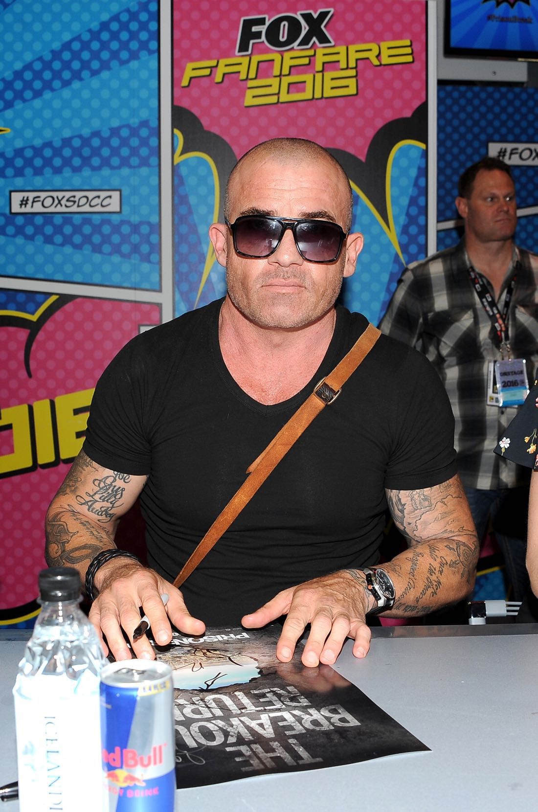 FOX FANFARE AT SAN DIEGO COMIC-CON © 2016: PRISON BREAK cast member Dominic Purcell during the PRISON BREAK booth signing on Sunday, July 24 at the FOX FANFARE AT SAN DIEGO COMIC-CON © 2016. CR: Scott Kirkland/FOX © 2016 FOX BROADCASTING