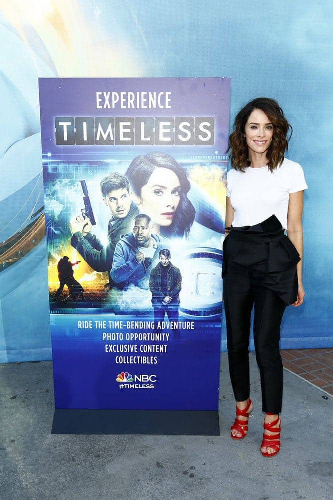 "COMIC-CON INTERNATIONAL: SAN DIEGO 2016 -- NBC at Comic-Con -- Pictured: Abigail Spencer at the ""Timeless"" NBC Activation at Tin Fish, San Diego, Calif., Saturday, July 23, 2016 -- (Photo by: Mark Davis/NBC)"