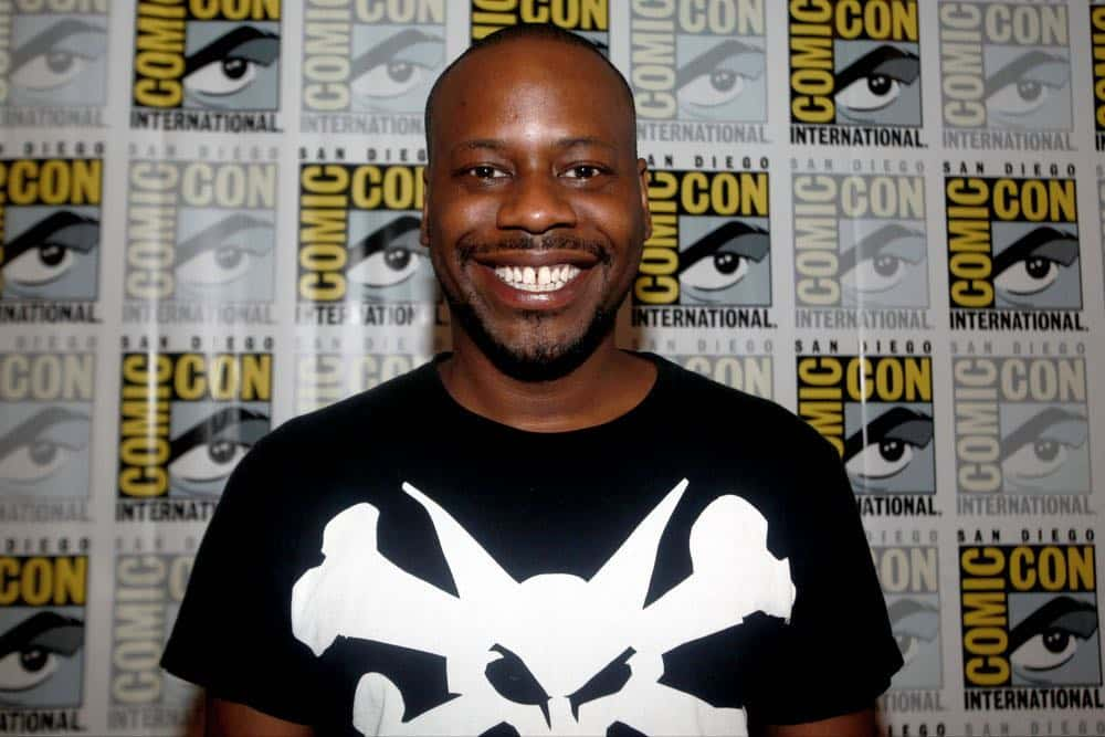 """COMIC-CON INTERNATIONAL: SAN DIEGO 2016 -- """"Timeless"""" Press Room -- Pictured: Malcolm Barrett, Saturday, July 23, 2016, from the Hilton Bayfront, San Diego, Calif. -- (Photo by: David Yeh/NBC)"""
