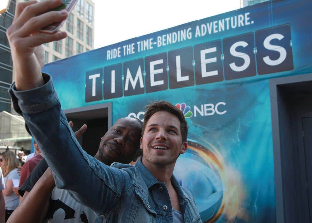 """COMIC-CON INTERNATIONAL: SAN DIEGO 2016 -- """"Timeless"""" Press Room -- Pictured: , Saturday, July 23, 2016, from the Hilton Bayfront, San Diego, Calif. -- (Photo by: David Yeh/NBC)"""