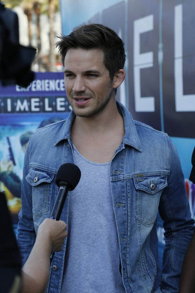 "COMIC-CON INTERNATIONAL: SAN DIEGO 2016 -- ""NBC at Comic-Con"" -- Pictured: Matt Lanter, ""Timeless"", at the NBC Activation, Tin Fish, San Diego, Calif., July 23, 2016 -- (Photo by: Daniel Cristol/NBC)"