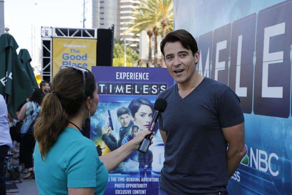 "COMIC-CON INTERNATIONAL: SAN DIEGO 2016 -- ""NBC at Comic-Con"" -- Pictured: Goran Visnjic, ""Timeless"", at the NBC Activation, Tin Fish, San Diego, Calif., July 23, 2016 -- (Photo by: Daniel Cristol/NBC)"