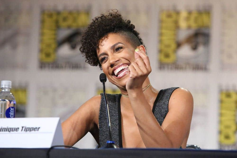 "COMIC-CON INTERNATIONAL: SAN DIEGO -- ""The Expanse Panel"" -- Pictured: Dominique Tipper -- (Photo by: Evans Vestal Ward/Syfy)"